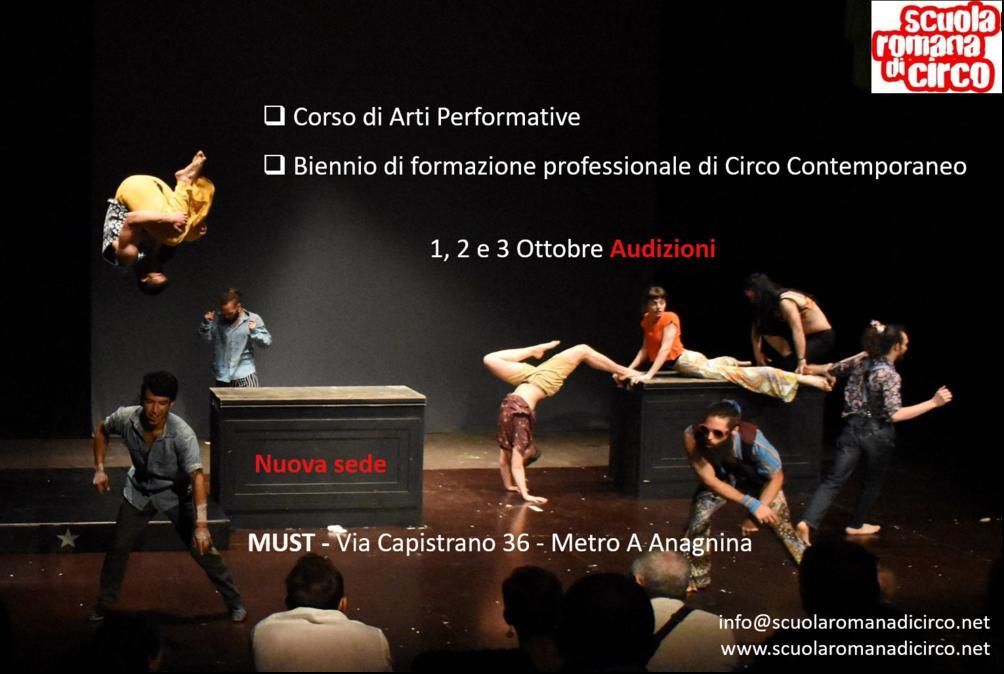Audizioni 1, 2, 3 Ottobre
